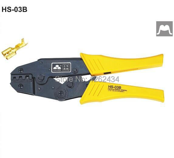 <font><b>HS</b></font>-<font><b>03B</b></font> RATCHET CRIMPING PLIER (EUROPEAN STYLE)Non-insulated tabs and receptacles image