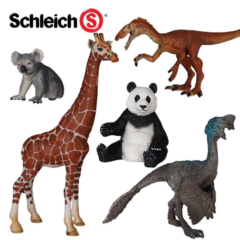 Simulated Wild Animal Toy Giraffe Giant Panda Cara Jurassic Century Dinosaur Model Oviraptor Tawa Hallae mr froger carcharodon megalodon model giant tooth shark sphyrna aquatic creatures wild animals zoo modeling plastic sea lift toy