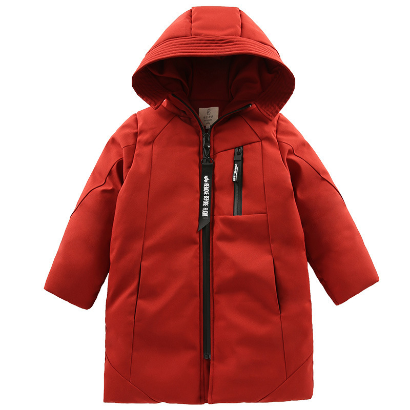 Image 5 -  30 degree children clothing boy clothes warm winter down cotton jacket Hooded coat Teen thicken outerwear kids waterproof parka-in Down & Parkas from Mother & Kids