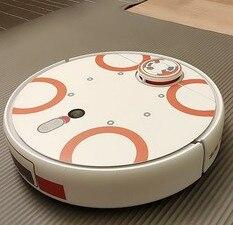 Image 4 - Autocollant mignon pour aspirateur Robot xiaomi 1S, Film de protection autocollant en papier, accessoires