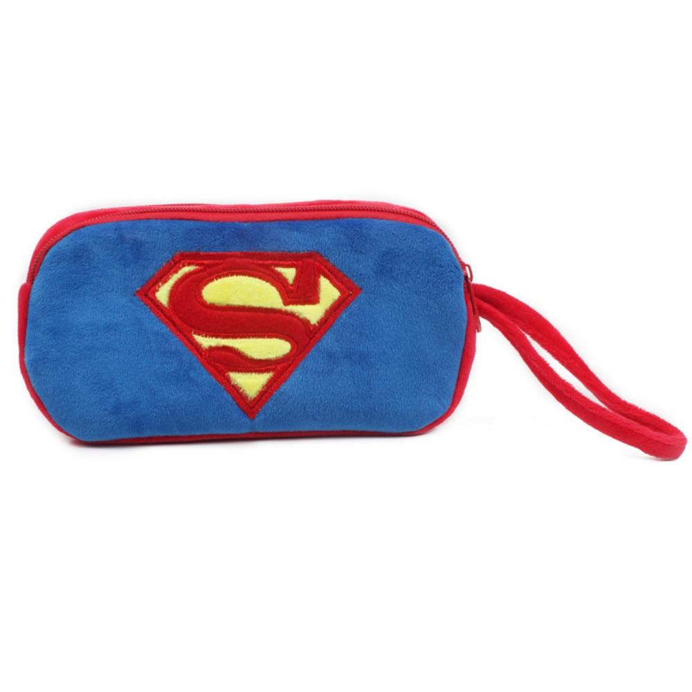 Marvel Superman Coin Purse Cute Cartoon Coin Purse for Phone Key Chain Hand Take Bag for Kids