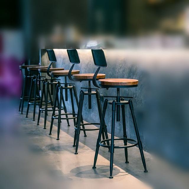 retro cafe table and chairs toddler comfy chair aliexpress.com: acheter rustique industrielle vintage rÉtro en mÉtal petit dÉjeuner bar tabouret ...