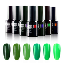 1pc Warna Hijau Nail Polish Gel Varnish Lacquer 10ml