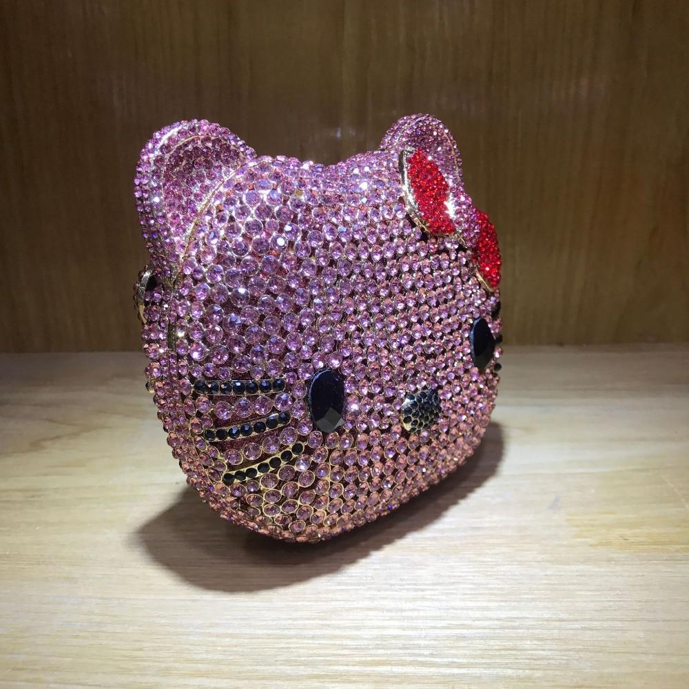 Same As Diamant Cristal Clutch Mariage Soirée Kitty color Femmes Mariée De Color À Banquet Bonjour Xiyuan Embrayage Parti Sac Chaîne Jour Pictur Main Purse Pictur 1Rpxfq