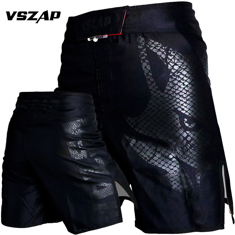 Men   Shorts   2019 VSZAP Brand Fitness Workout   Shorts   MMA Muay Thai Fighting Muscle Training Men   Shorts   Polyester Quick Drying