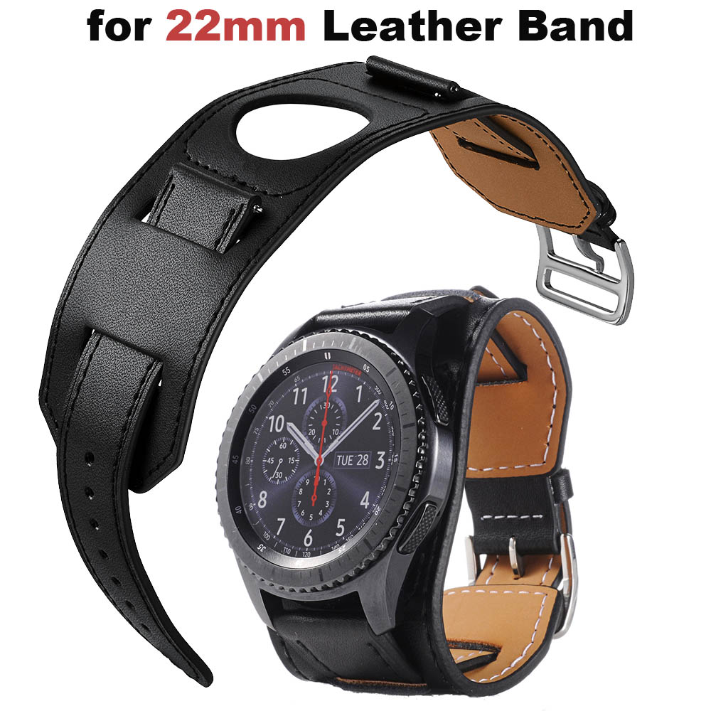 22mm Leather Bracelet Strap For Xiaomi Amazfit GTR 47mm Pace Stratos 2 Band For Huawei Watch GT Honor Magic Dream Bands Samsung