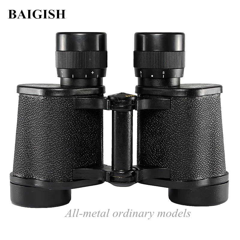 Powerful Military Binoculars Baigish 8X30 Professional Telescope Full metal Army binocular with Rangefinder eyepiece for Hunting