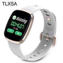 Kadın akıllı saat spor fitness takip chazı nabız monitörü Smartwatch Bluetooth müzik kontrol cihazı Için Su Geçirmez Izle Android
