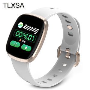 Image 1 - Women Smart Watch Sport Fitness Tracker Heart Rate Monitor Smartwatch Bluetooth Music Control Waterproof Watch For Android