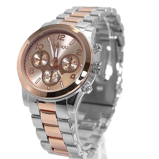 Luxury Brand Unisex Analog Quartz Round Wrist Watch Japan PC21J Movement Rose Gold with Shiny Metal Band Rose Gold Dial orkina brand clock 2016 new luxury chronograph rose gold case black dial japan movement mens wrist watch cool horloges