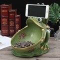 Kreative harz frosch statue Lagerung Box wohnkultur handwerk raum dekoration vintage parlor frosch Snack boxen ornament figur-in Statuen & Skulpturen aus Heim und Garten bei