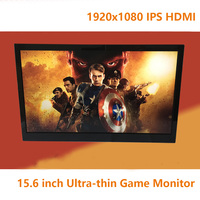 15 6 Inch Portable Game Display Monitor Screen Adjustable Backlight 1920x1080 IPS HDMI 1080P Car Raspberry