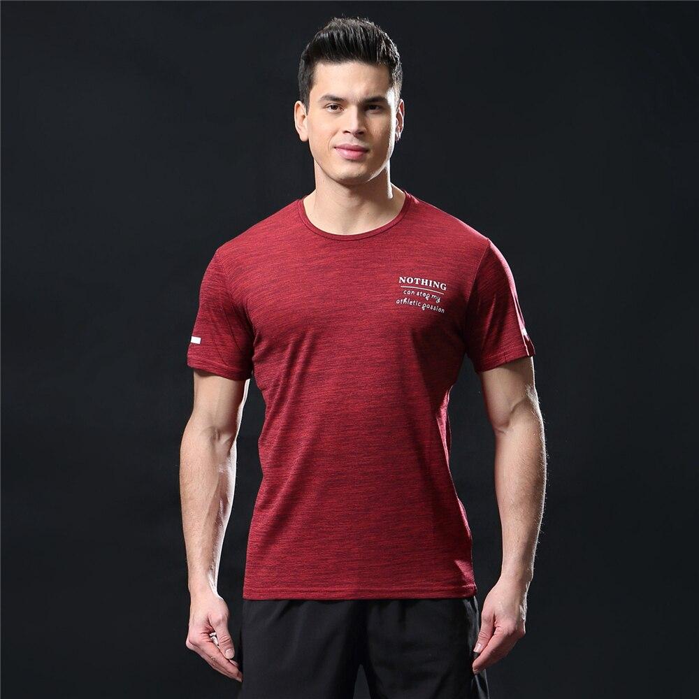 GANYANR Running T Shirt Men Basketball Tennis Sportswear Tee Sport Fitness Gym Jogging Tops Slim Fit quick dry Exercise Training 19