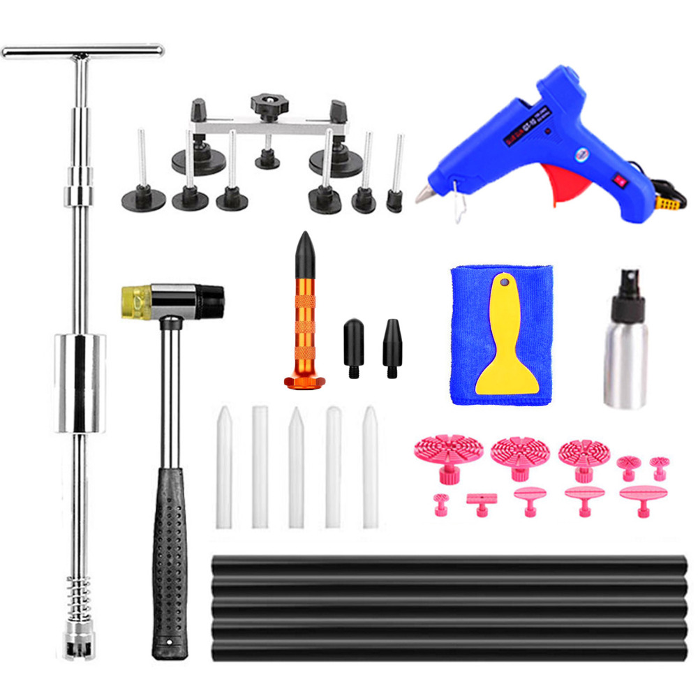 WHDZ PDR Auto Body Paintless Dent Removal Repair Tools Kits 2IN1 Slider Hammer Glue Puller Glue gun Auto motive Door Ding Dent whdz pdr auto body paintless dent removal repair tools kits bridge puller 2in1slide hammer glue puller automotive door ding dent