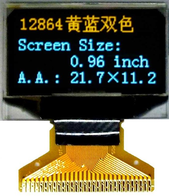 OLED 0.96 inch Internal DC/DC  oled display  led  (128x64)