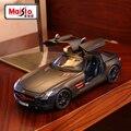 Maisto1: 18 моделирование Mercedes SLS модели имитационная модель оригинальный сплав металла автомобилей