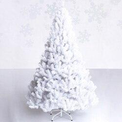 1,2 mt 1,5 mt 1,8 mt 2,1 mt 2,4 mt Umweltschutz PVC Blätter Weiß Weihnachten Baum
