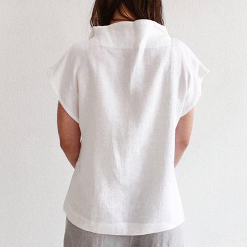 Celmia Women Vintage Linen Tops Plus Size Blouses 19 Summer V Neck Short Sleeve Shirts Casual Tunic Female Blusas Femininas 18