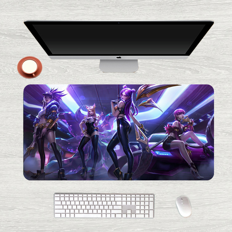 80x40cm Large KDA Gaming Mouse Pad League of Legends Durable Rubber Custom Mouse Mat Pad Rubber Mouse Durable Desktop Mousepad