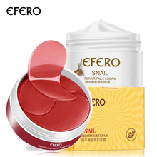2PCS EFERO Skin Care Set Whitening Cream Set Moisturizing Snail Cream Face Cream Eye Patches Under the Eye Dark Circles Removal