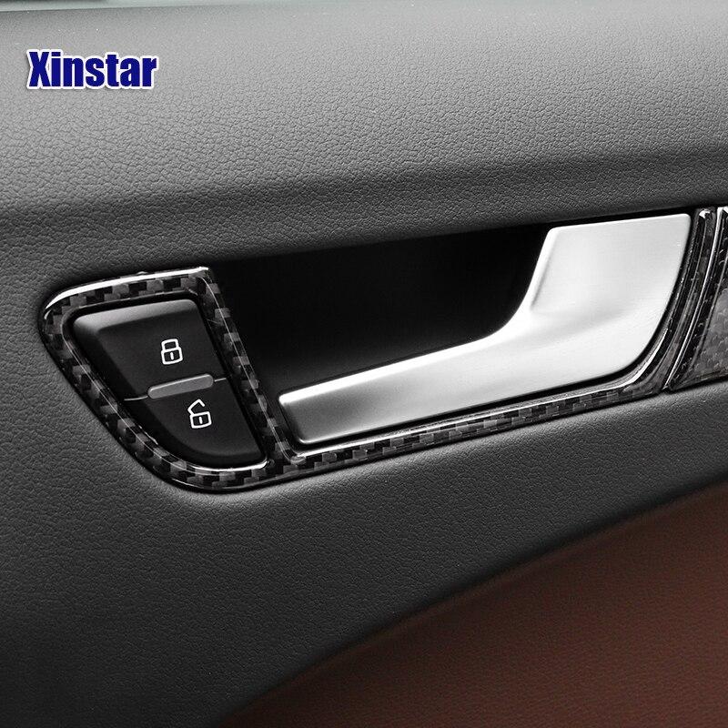 4pcslot Carbon Fiber Sline Rs Car Interior Door Handle Sticker For