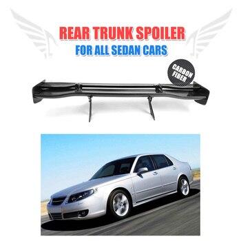 모든 세단 자동차에 맞는 8 개/대 유니버설 탄소 섬유 후면 트렁크 부팅 데크 스포일러 날개