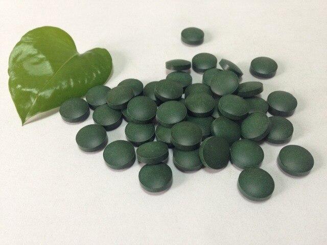 500 pieces Organic chlorella tablet Chlorella vulgari pills free shipping