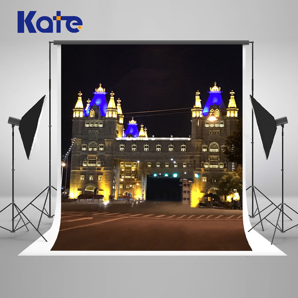 Kate 150X220CM City Night  Backgrounds for Photo Studio Wedding  London Bridge Photography Background Stage Backdrops