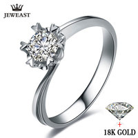 Натуральный кольцо с бриллиантом 18 К золотые свадебные Снежинка романтическая предложить Обручение Для женщин Lover Юбилей партия Новый Хоро