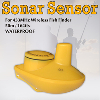 2017 Real Sale English Wireless Fishfinder Wireless Remote Sonar Sensor D D+t For Original Ffw 718 Ff518lucky Fish Finder