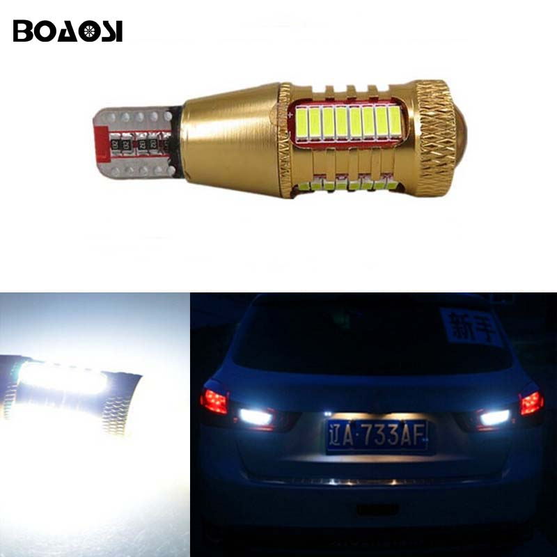 BOAOSI 1x White Canbus Error Free T15 W16W Car LED Backup Reverse Lights lamps For Mitsubishi asx Lance 1pcs canbus error free t15 car led backup reverse lights lamps for lexus ct es gs gx is is f ls lx sc rx is250 rx300 is350 is300