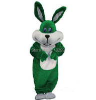 Easter rabbit bunny mascot costume green rabbit fancy dress custom fancy costume cosplay mascotte theme carnival costume kits