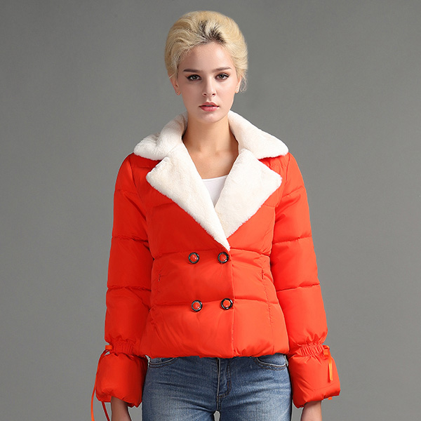 73b58baa8 US $22.25 58% OFF|JOJX Fashion Autumn winter women jacket 2017 short  Lambskin Winter Coats Female elegant Jacket Coat Parkas Women Warm Outwear  -in ...
