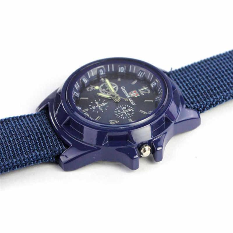 للرجال ساعات الأعلى ماركة فاخرة الكوارتز الجيش سباق القوة العسكرية الرياضة ووتش الرجال أزياء قماش عارضة ساعة relogio masculino # d