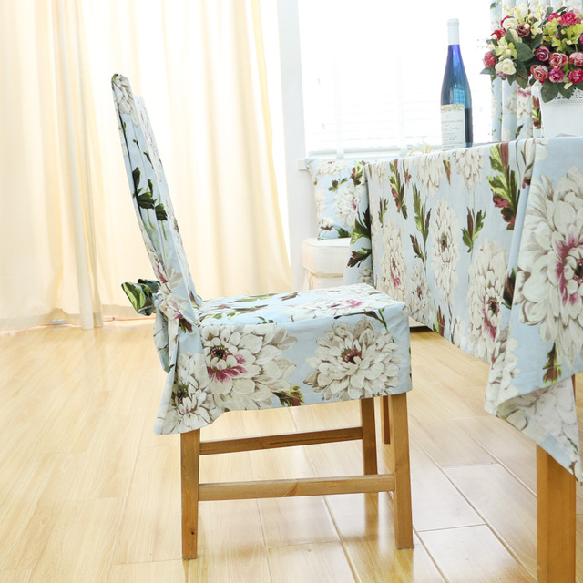 Chair Covers Cotton Mid Century Chairs For Sale French 100 Dining Set One Piece Wedding Cover Cloth Customize