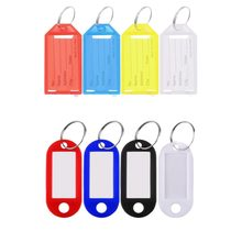 1 Pc Durable Plastic Cool Key Ring Tags Key Ring ID Identity Tags Rack Name Card Label Shop Price Drop Shipping Car Accessory(China)