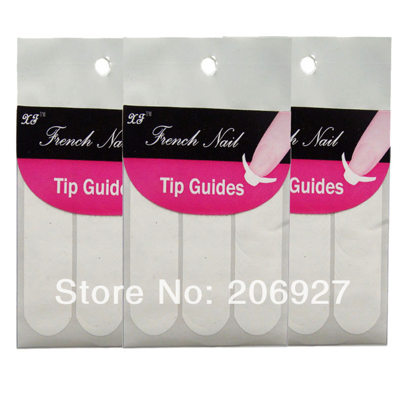 2PCS French Nail Tip Guide Sticker Sheet Tape DIY French sticker ...