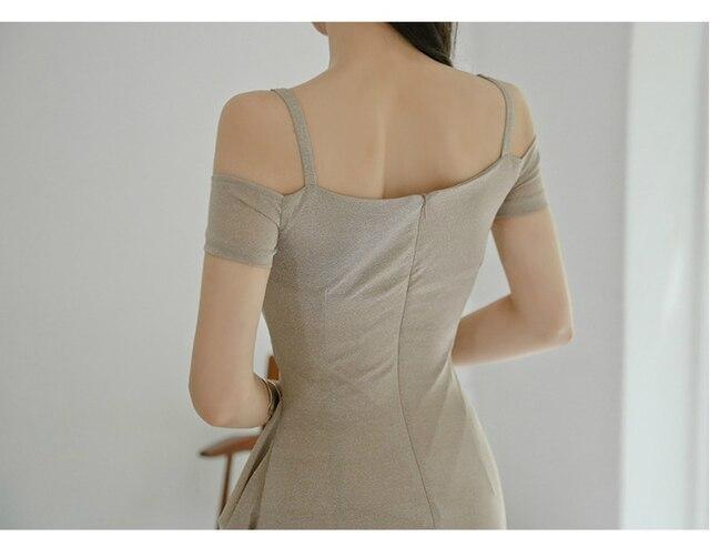 Женское платье на тонких бретельках Клубное облегающее мини