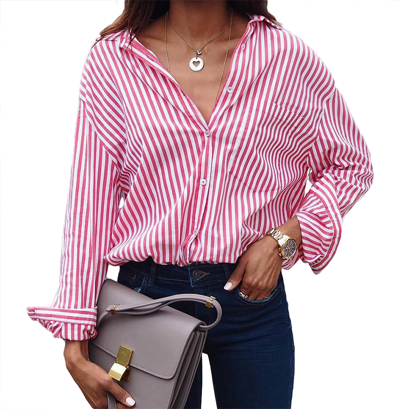 Women's Clothing 2018 Hot Sell Print Shirts European And American New Fashion Full Sleeve Wild Plaid Long Women Blouses 9073