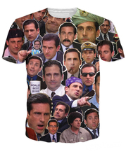 Free Shipping Many Faces of Michael Scott Paparazzi T-Shirt Fashion Summer Style T Shirt Character Tees Tops For Women Men R2882