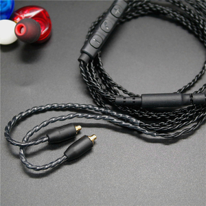 Image 3 - DIY MMCX Earphone Cable for Shure SE215 SE535 SE846 UE900 Upgraded Replacement 14 Cores Copper Twist Audio Cord with MIC