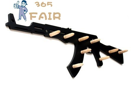 Cool Hooks coat hook wall hook clothes hook ak47 with bullets for geek cool