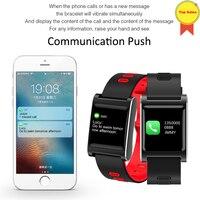 Originale smartband fabbrica smartwatches Frequenza Cardiaca inseguitore di Fitness Sport 1.0 pollici a colori dello schermo lungo Standby smartbracelet uomini