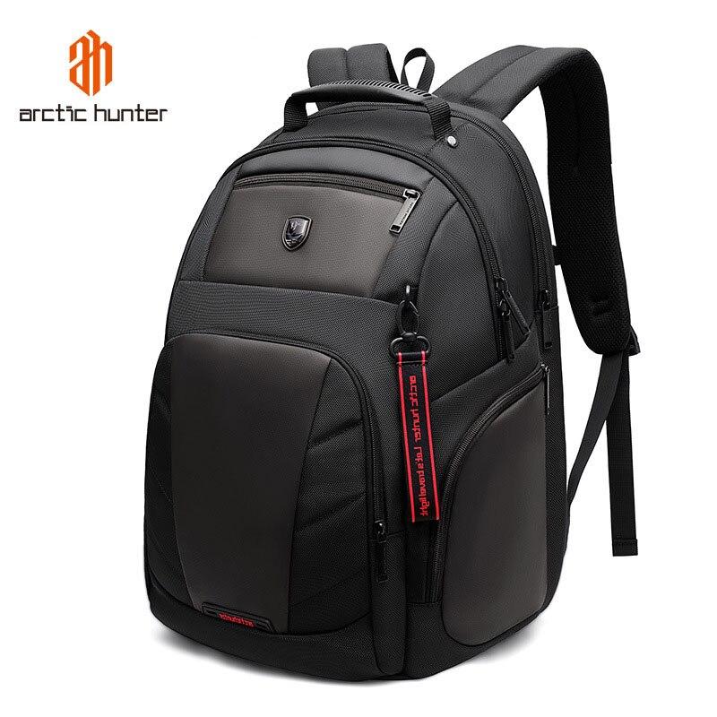 Arctique HUNTER 15.6 pouces étanche USB ordinateur portable hommes sacs Sport voyage cahier cartable décontracté Pack mâle sac à dos Mochila Bolsas