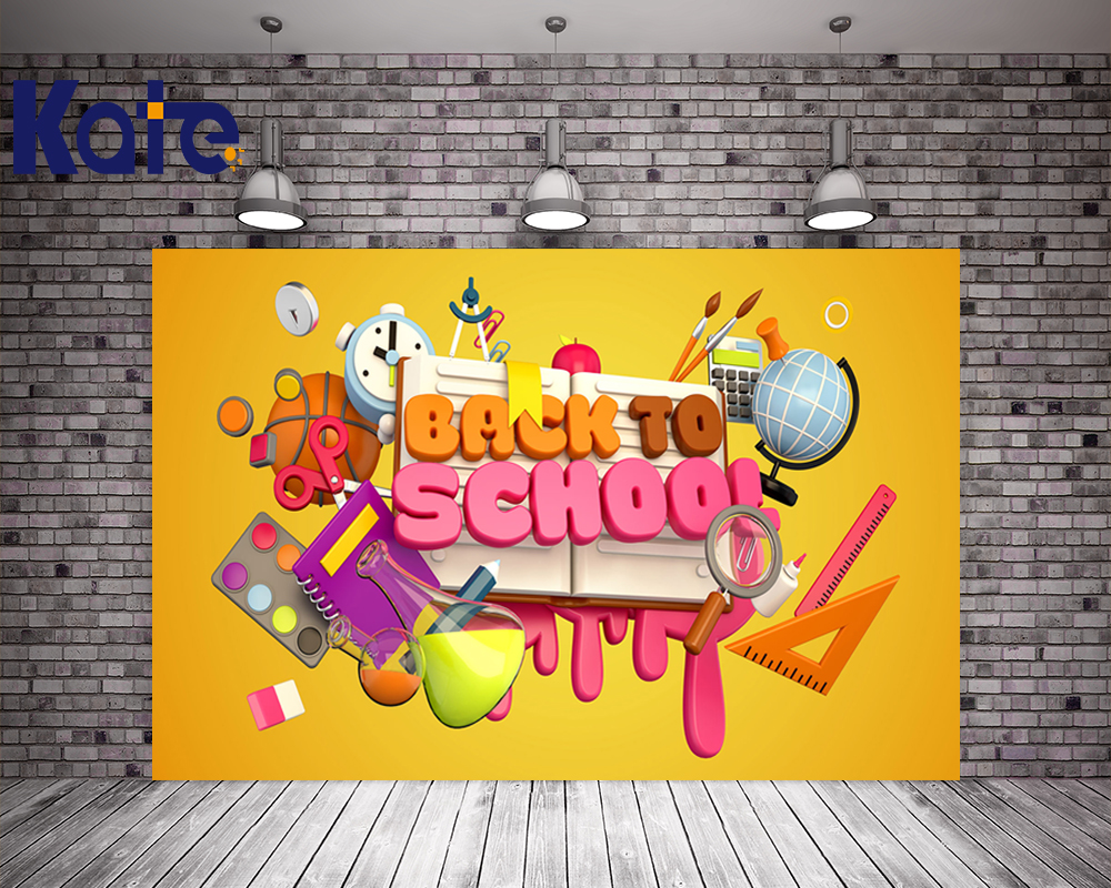 Kate 5x7ft Photography Backdrops Children Back To School Day Backdrops Kids Cartoon Stationery Picture School Book BackgroundKate 5x7ft Photography Backdrops Children Back To School Day Backdrops Kids Cartoon Stationery Picture School Book Background