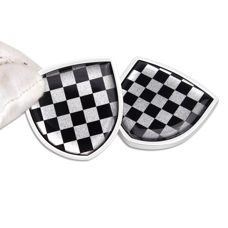 2Pcs F1 Flag Car Auto Styling Decor Decal Badge Emblem Logo Fit for Nissan Nismo
