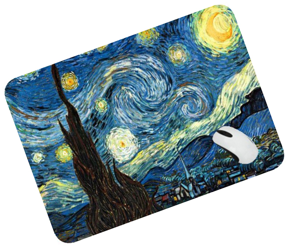 Van Gogh mouse pad Wholesale mousepad laptop Oil Painting mouse pad gear notbook computer gaming mouse pad gamer play mats