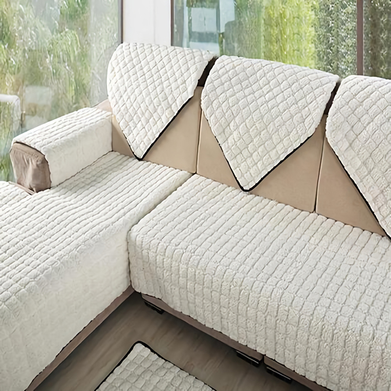 Flannel 4colors Sofa Covers Fleeced Fabric Knit Eco Friendly Anti Mite Manta Sofa Slipcover Couch Cover