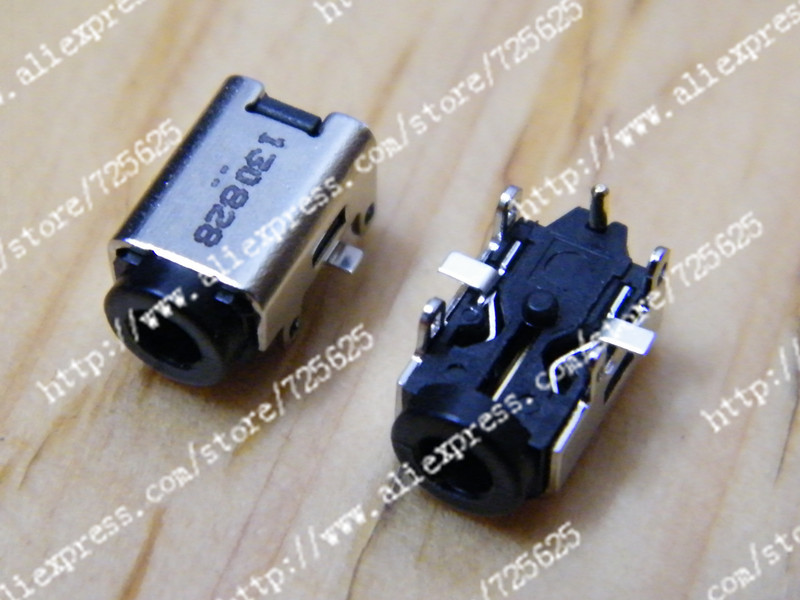 цены  free shipping 2 pcs Laptop DC Power Jack connector Socket for ASUS  EEEPC 1215N 1225 1225c