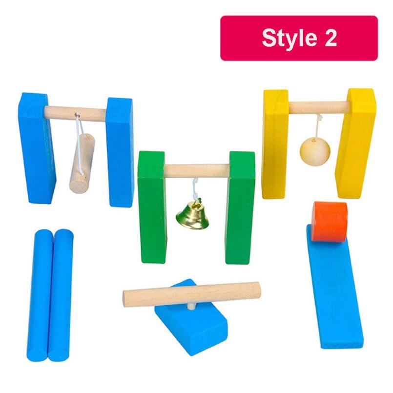 Деревянные аксессуары для домино, игрушки, органные блоки, радужные головоломки, игра в домино, Монтессори, развивающие игрушки для детей - Цвет: Style 2(bell)
